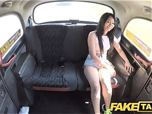 faux cab jaw-dropping Thai gal with pierced puss lips