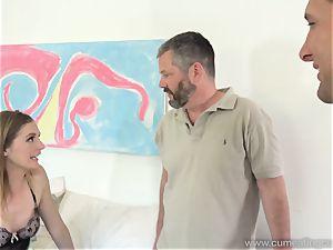 Mona Wales Turns Her husband Into brilliant spunk-pump cocksucker