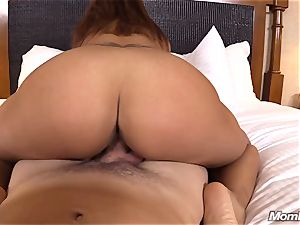 warm Latina fledgling milf first-ever timer