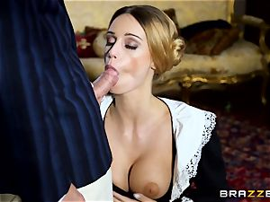 cool Maid Erica Fontes smashes in her super-fucking-hot uniform