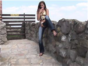 Eroberlin Anita clit outdoor teenager jerk public