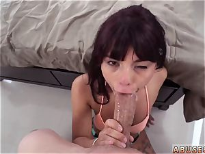 Maid penalized with vibrator and european harsh dual He romped her rear entrance until it