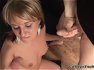 sizzling Russian takes a enormous penis in her arm and jaws
