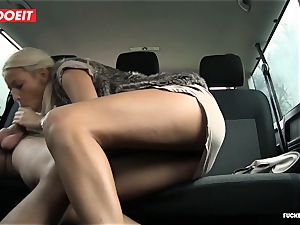 LETSDOEIT -super-fucking-hot towheaded Gets jizm All Over Her booty In taxi