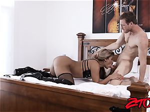 gimp milf Mercedes Carrera rammed with humungous meatpipe