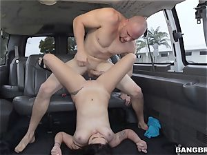 Karlee Grey picked up and wedged on the Bangbus