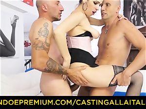 audition ALLA ITALIANA - super-steamy cougar has dual rectal joy