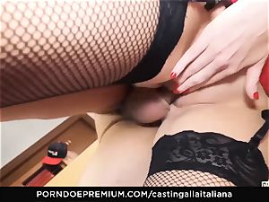 casting ALLA ITALIANA - huge-titted brown-haired enjoys moist anal invasion
