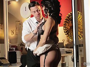 super-steamy office sweetheart Peta Jensen has fuck-fest with her workers after work