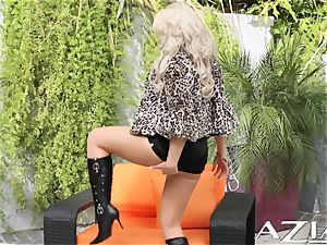 magnificent blonde Boomshell fuck sticks for you outdoors