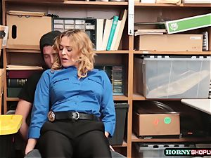 successful stud smashes Officer Krissy Lynns humid vulva by swap for his freedom