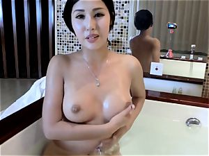 chinese stunner in bath