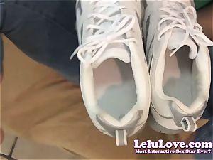 Lelu Love-POV Footjob spunk In Sneakers