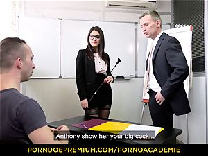 porn ACADEMIE - teacher Valentina Nappi MMF threesome