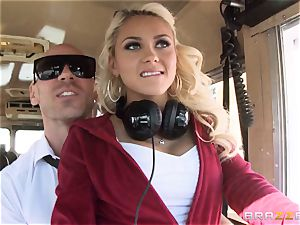 wild hitchhiker Marsha May pummeling molten bus driver