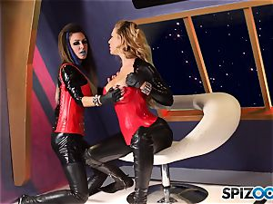 Minge munchers Jessica Jaymes and Cherie Deville get wild on this space mission