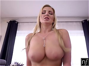 NF huge-titted - cumming On My girlfriends yam-sized innate mounds