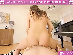 VR pornography - super-naughty college girl pokes her piano lecturer