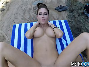 Beach ass Jessica Jaymes poked deep in her uber-sexy pleasure button cootchie
