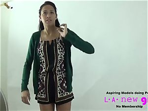 TALL MODEL poked AT audition casting