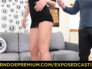 unsheathed audition - fantastic dark haired has gonzo anal invasion lovemaking