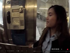 bitches ABROAD - squirting chinese tourist boinked hard