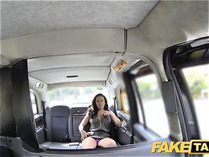 fake cab damsel in rosy underwear gets creampied