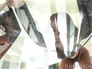 Jules Jordan - Adriana Chechik dual anal internal cumshot!