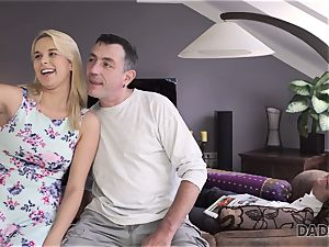 DADDY4K. dad and youthfull dame enjoy buttfuck hook-up near his sleeping sonnie