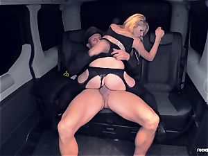 FuckedInTraffic - platinum-blonde gash giving a blowjob to her driver