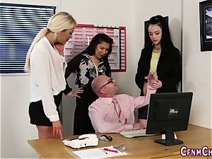 domme humiliates boss