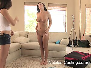 Nubiles audition - pornography tryouts for big-chested babe