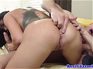 Housewife Romi Rain super-naughty in the morning for lollipop