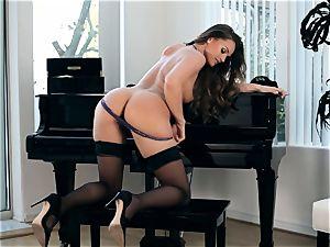 fabulous Tori black milks on a piano