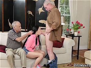 older light-haired grandma and young couples outdoors Dukke the Philanthropist