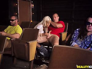 Cinema beef whistle deepthroating buxom Bridgette B