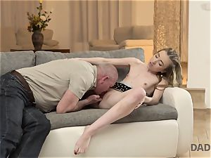 DADDY4K. romp of dad and youthful female ends with sudden internal ejaculation