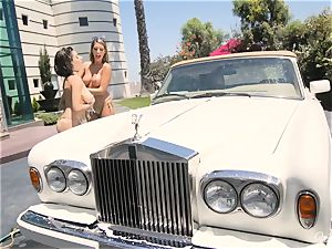 August Ames and Darcie Dolce get their culos bubbly