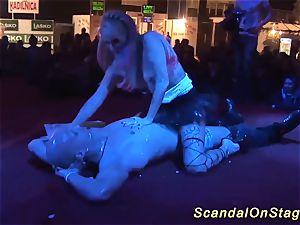 public lap dance with a flexi stunner