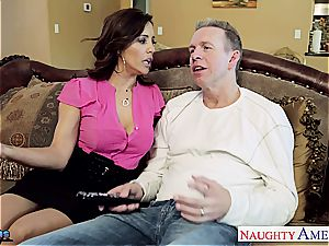 busty dark-haired babe Francesca Le gets smashed