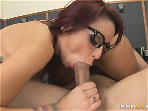 Mick Blue fantasizing in class about his instructor Madison Ivy