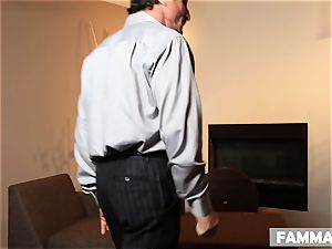 Stepsisters make an FFM session with one successful guy