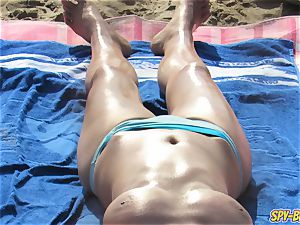 hot bare-chested milfs thick orbs - unexperienced spycam Beach vid