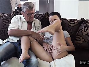 DADDY4K. parent takes part in spontaneous fuck-fest with hotty Erica dark-hued
