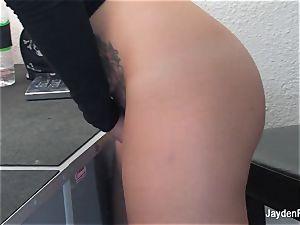 Jayden Jaymes paws her moist poon