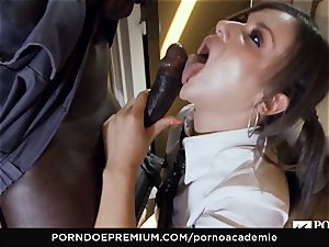 pornography ACADEMIE - Mina Sauvage bbc drilled in threesome