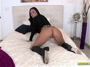 Gianna Nicole is tempted into some hot romp on camera