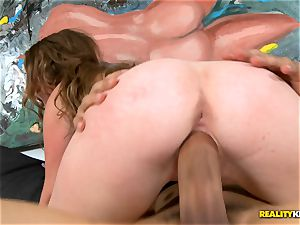 dark-haired Sam Summers riding phat boner