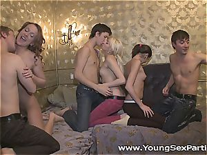 youthfull Russians enjoy to party with a raunchy intercourse