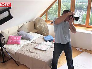 Czech teen sweetie Alexis Crystal first porn Shoot